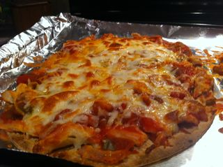 Quesadilla pizza
